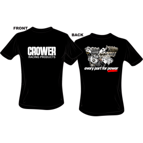 Engine Kit T-Shirt Black with Crower Logo