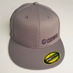 Cap-Gray Flex Fit High Profile Polyester/Wool with offset Crower & Logo mark