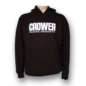 Black Hoody with Large Crower Logo